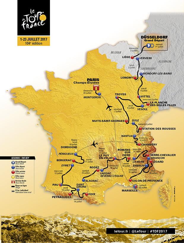 نقشه تور فرانسه