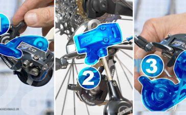 تنظیم دنده عقب دوچرخه (شانژمان عقب)