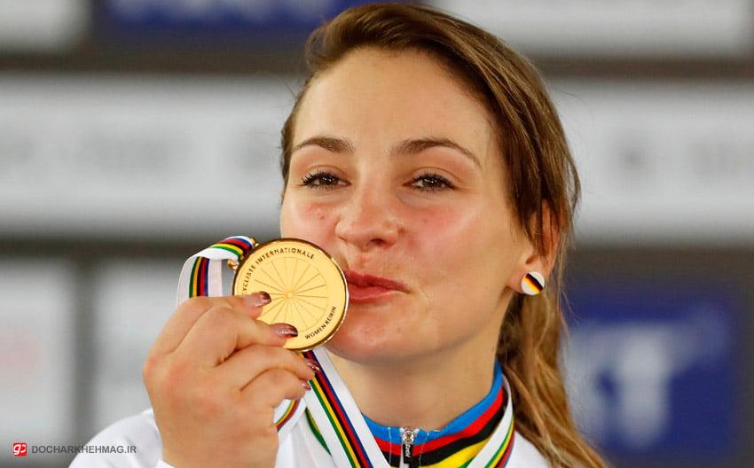کریستینا وگل کسب مدال قهرمانی جهان