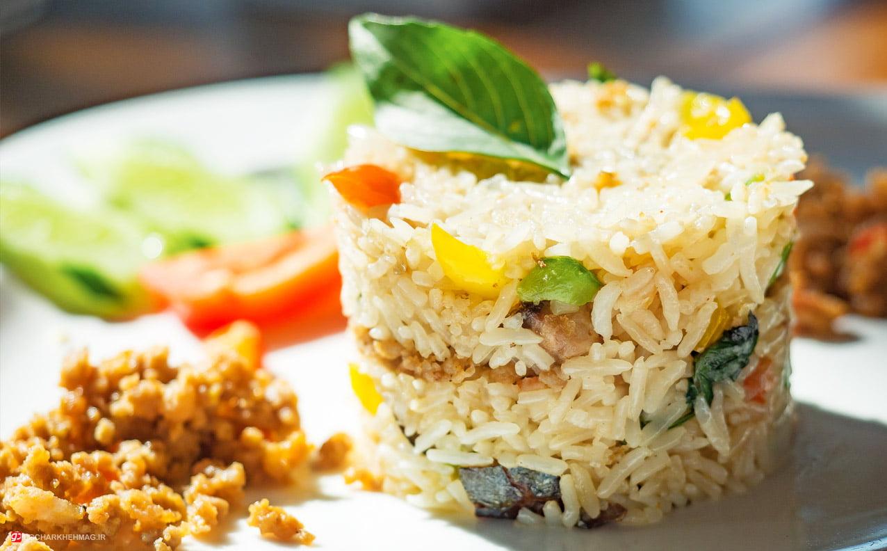 غذای تایلندی Khao pad