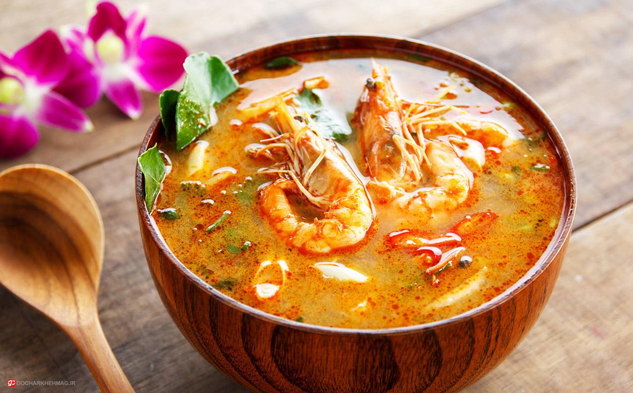غذای تایلندی Tom Yum Goong