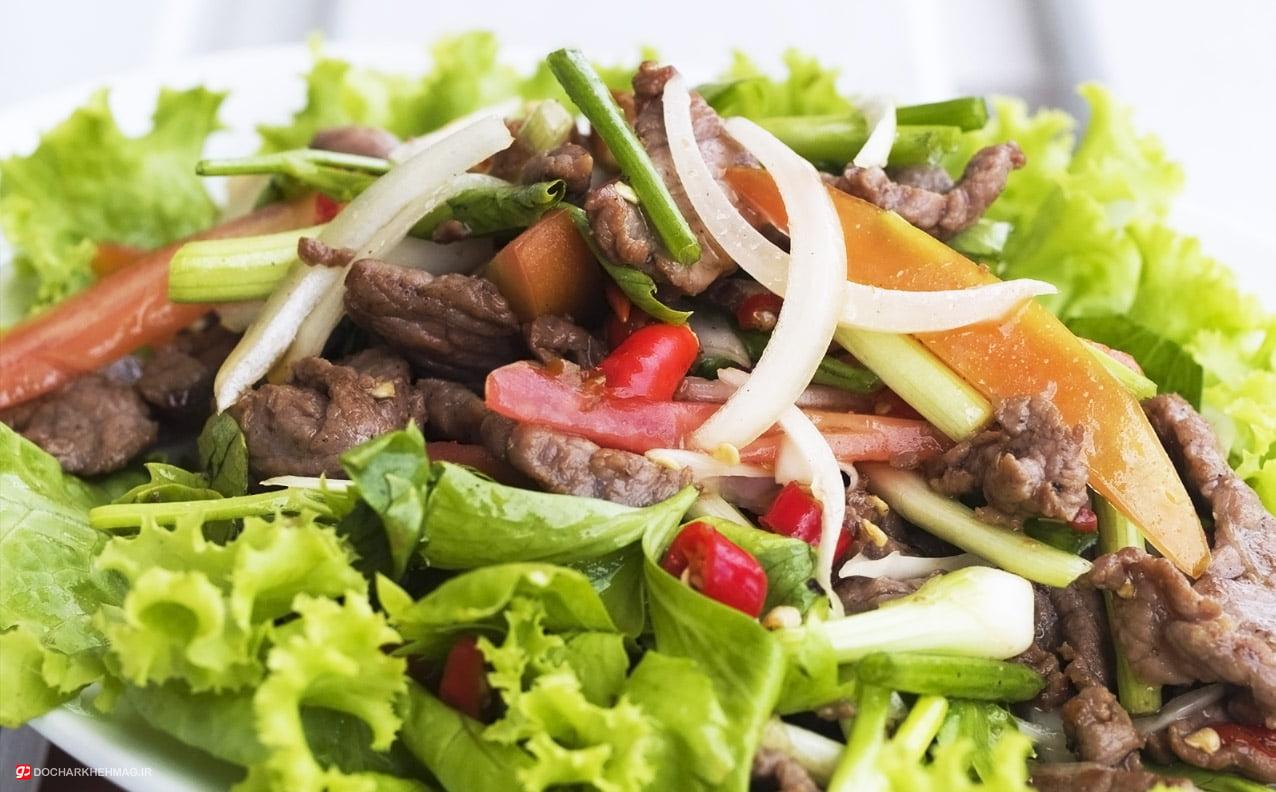 غذای تایلندی Yam nua
