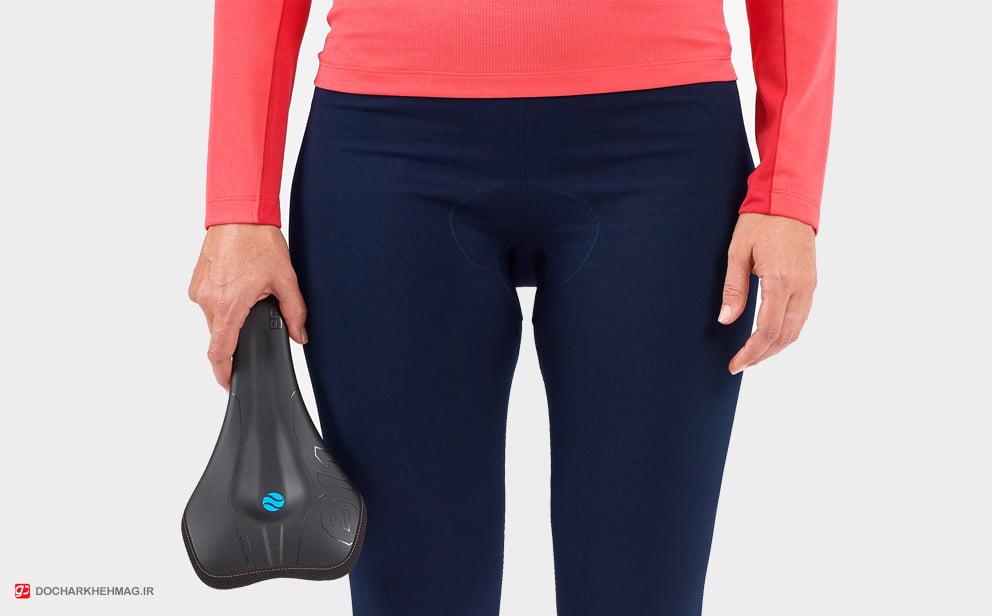 شکل فیزیک استخوان بندی زنان و زین مناسب دوچرخه سواری زنان