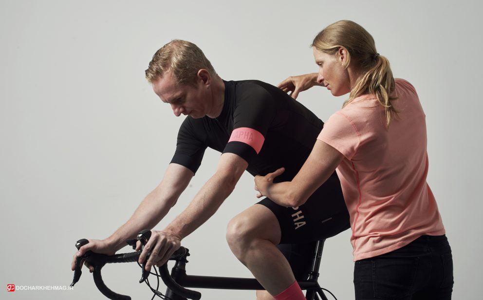 نشان دادن حالت تنظیم صحیح روی دوچرخه