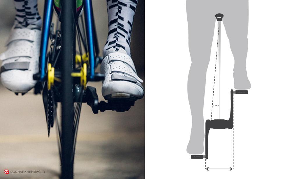 فاصله بین دو رکاب دوچرخه